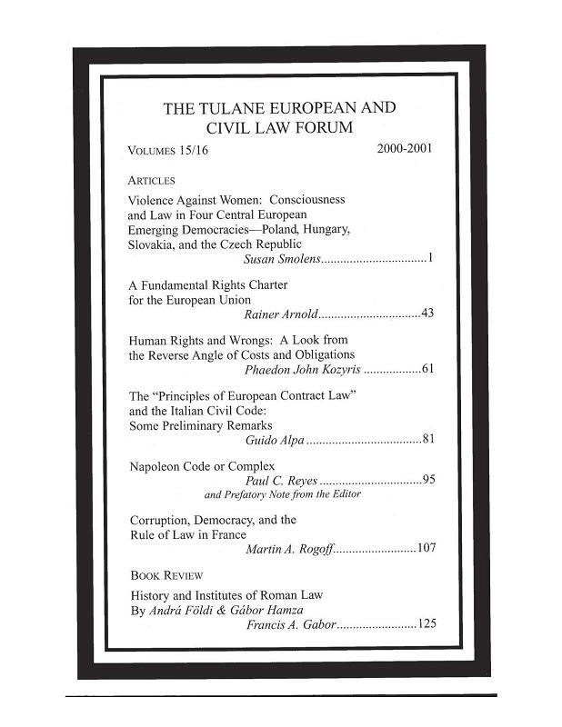 View Vol. 15 No. 15-16 (2001)