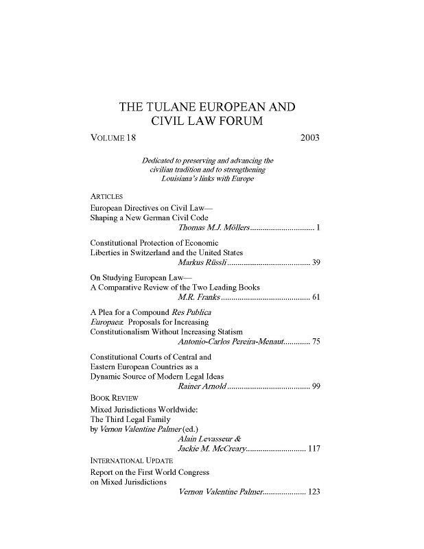 View Vol. 18 (2003)