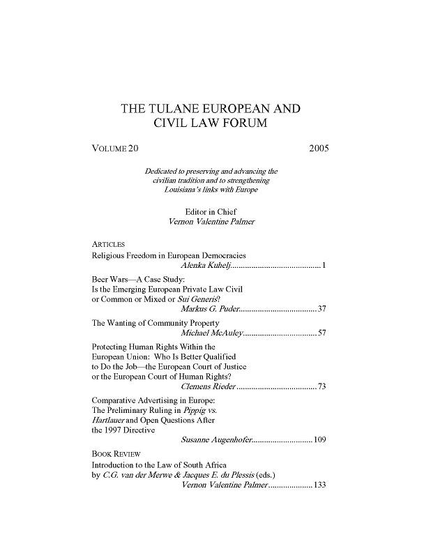 View Vol. 20 (2005)