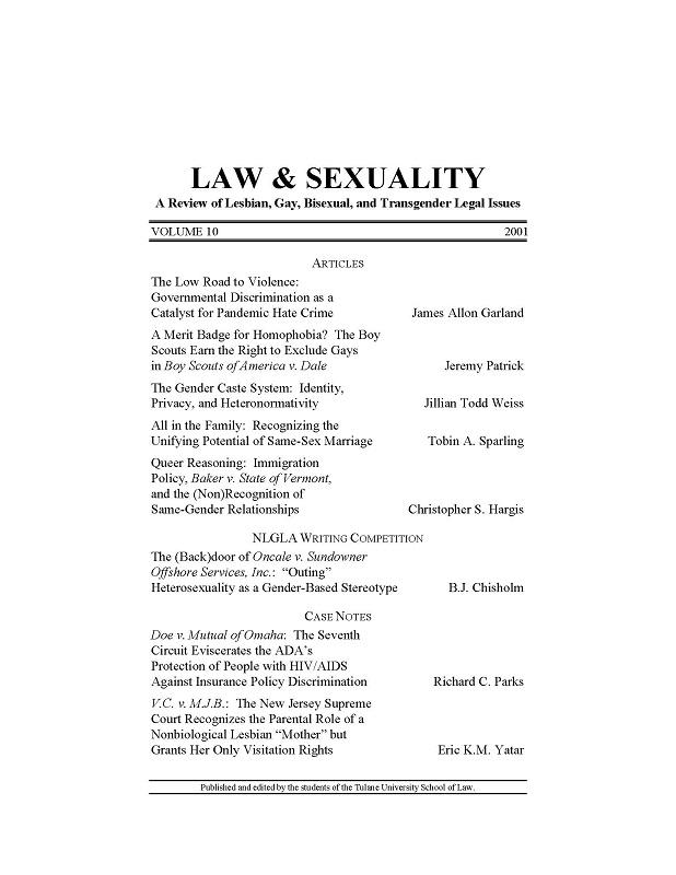 View Vol. 10 (2001)